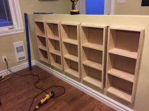 Built In Wall Shelving